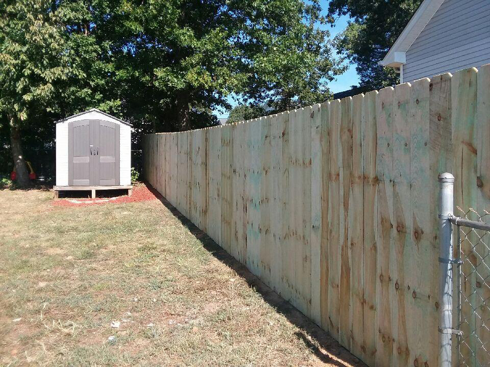 6' wooden privacy fence