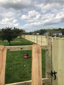 wood fence needs replacing