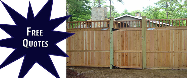 residential fence with gate
