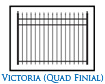 Victoria Quad Finial Fence